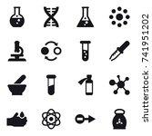 16 vector icon set   round... | Shutterstock .eps vector #741951202
