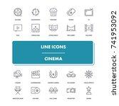 line icons set. cinema pack....