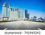 shanghai cityscape | Shutterstock . vector #741965242