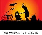 halloween   Shutterstock .eps vector #741968746