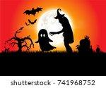 halloween | Shutterstock .eps vector #741968752