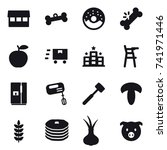 16 vector icon set   market ... | Shutterstock .eps vector #741971446