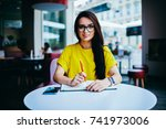 portrait of gorgeous female... | Shutterstock . vector #741973006