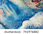 painting  canvas  oil on canvas.... | Shutterstock . vector #741976882