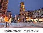 canakkale clock tower  the... | Shutterstock . vector #741976912