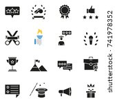 vector set of icons related to... | Shutterstock .eps vector #741978352