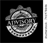 advisory with chalkboard texture | Shutterstock .eps vector #741978646