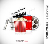 cinema element. cinematograph. | Shutterstock .eps vector #74197912