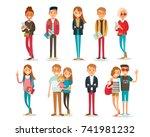 set of people | Shutterstock .eps vector #741981232