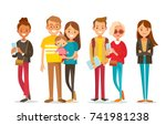 vector set of people | Shutterstock .eps vector #741981238