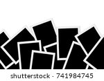 blank photos on white background | Shutterstock . vector #741984745