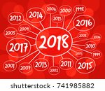 2018 happy new year and... | Shutterstock .eps vector #741985882