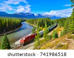 train passing famous morant's... | Shutterstock . vector #741986518