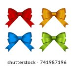 set of  gift bows.  concept for ... | Shutterstock .eps vector #741987196