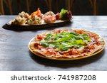 pizza sardegna   Shutterstock . vector #741987208