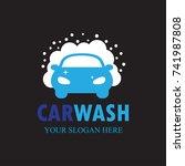 car wash logo template design...   Shutterstock .eps vector #741987808