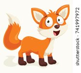 fox vector cartoon | Shutterstock .eps vector #741997972