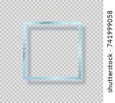 blue silver frozen foil frame... | Shutterstock .eps vector #741999058