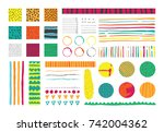 set with infographics elements... | Shutterstock .eps vector #742004362
