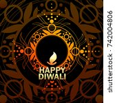happy diwali. vector design... | Shutterstock .eps vector #742004806