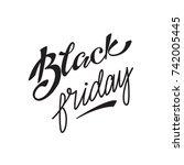 "vector lettering ""black friday"" | Shutterstock .eps vector #742005445"