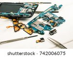 disassembled cell phones and... | Shutterstock . vector #742006075