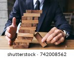 alternative risk concept  plan... | Shutterstock . vector #742008562