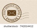 post service express postmark... | Shutterstock .eps vector #742014412