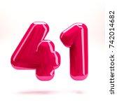 deep pink glossy celebrate...   Shutterstock . vector #742014682