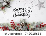 christmas theme background with ...   Shutterstock . vector #742015696