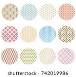japanese pattern vector.... | Shutterstock .eps vector #742019986