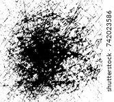 banner ink spots black. spot... | Shutterstock .eps vector #742023586