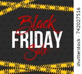 abstract vector black friday... | Shutterstock .eps vector #742027516