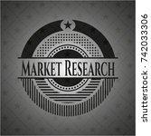 market research dark emblem | Shutterstock .eps vector #742033306