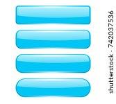 blank blue menu buttons. 3d...   Shutterstock . vector #742037536