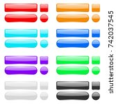 blank colored menu buttons. 3d... | Shutterstock . vector #742037545