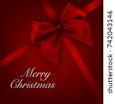 merry christmas greeting card | Shutterstock .eps vector #742043146