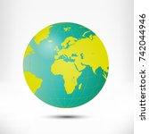 globe earth illustration...   Shutterstock . vector #742044946
