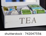 a white tea box with bags | Shutterstock . vector #742047556