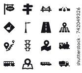 16 vector icon set   shop... | Shutterstock .eps vector #742049326