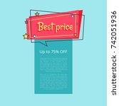 best price up to 75 percent off ... | Shutterstock .eps vector #742051936