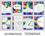 abstract vector layout... | Shutterstock .eps vector #742060162