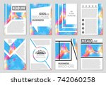 abstract vector layout... | Shutterstock .eps vector #742060258