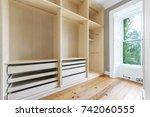empty wardrobe and storage... | Shutterstock . vector #742060555
