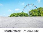 empty floor square and... | Shutterstock . vector #742061632