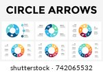 vector circle arrows... | Shutterstock .eps vector #742065532