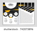 abstract vector layout... | Shutterstock .eps vector #742073896