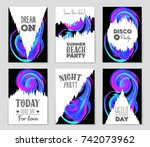 abstract vector layout... | Shutterstock .eps vector #742073962