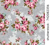 shabby chic or granny chic... | Shutterstock . vector #742082356