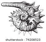 Ammonite Fossil Vintage...